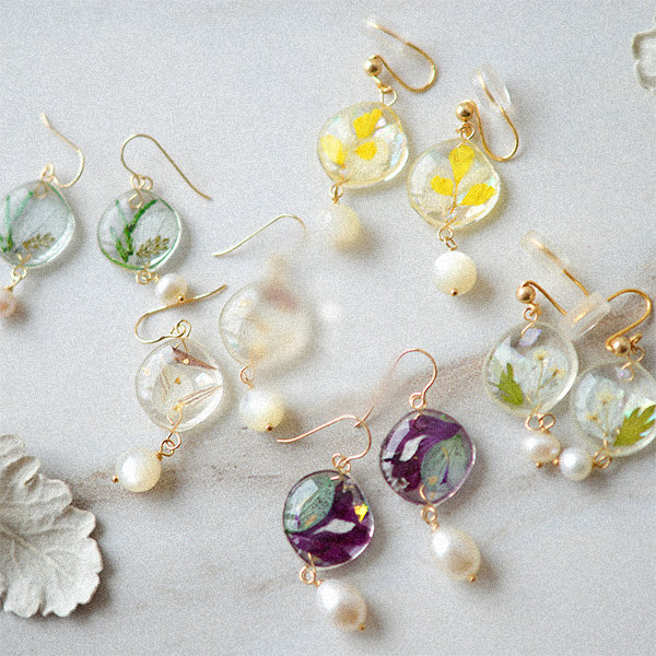 Pressed Flower Resin Earrings Apollobox
