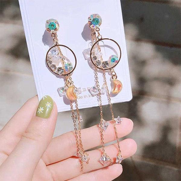 Circle Tassel Earrings