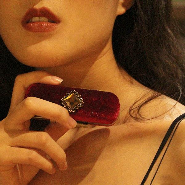 Red Velvet Lipstick Box