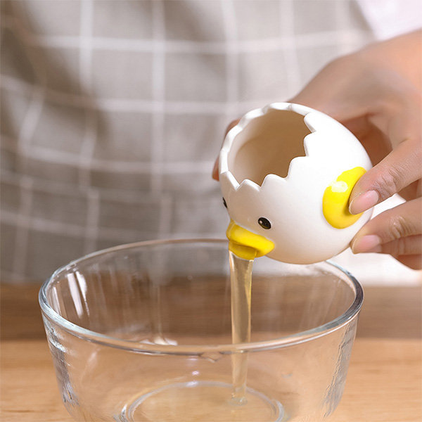 Automatic Egg White Filter Baking Tool for Cakes Egg White Filter Cukol Ceramics Vomiting Chicken Egg Separator Chick Egg Separator Egg Yolk White Kitchen Gadgets and Tools