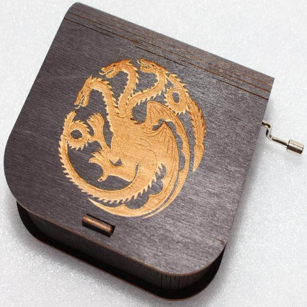 Game Of Thrones Music Box - Targaryen Logo