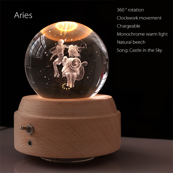 Twelve Constellations Crystal Music Box