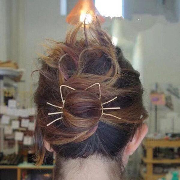 Meow Metal Hair Clip