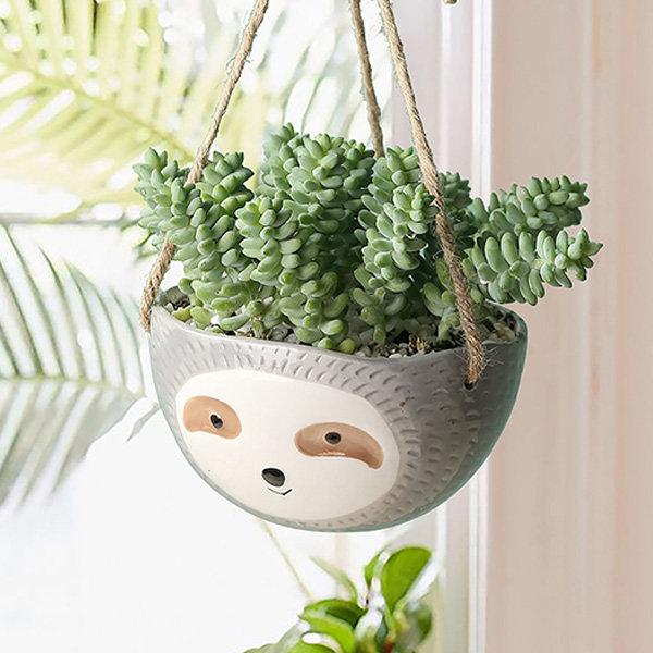 Planter l Sloth Hanging Planter