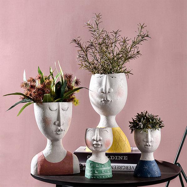 Artistic Face Flower Pot
