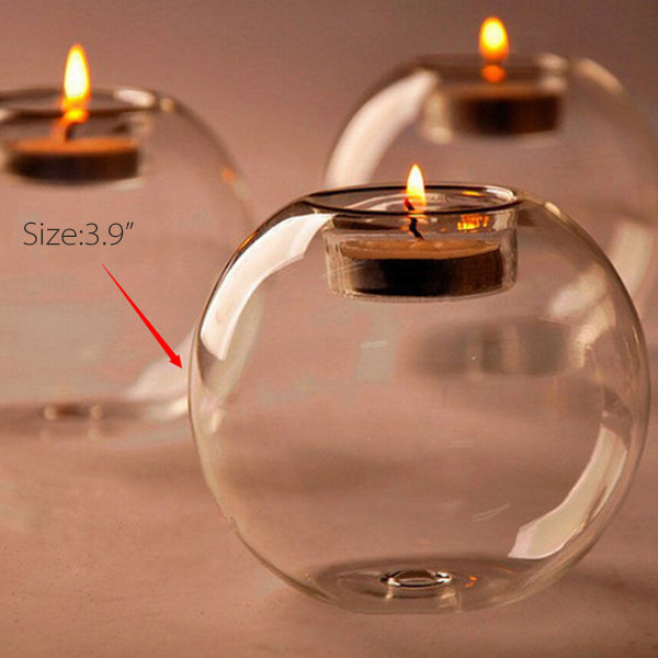 Round Clear Glass Candle Holder Apollobox