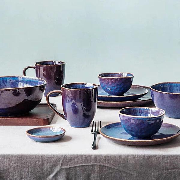 Purple-Blue Ceramic Tableware