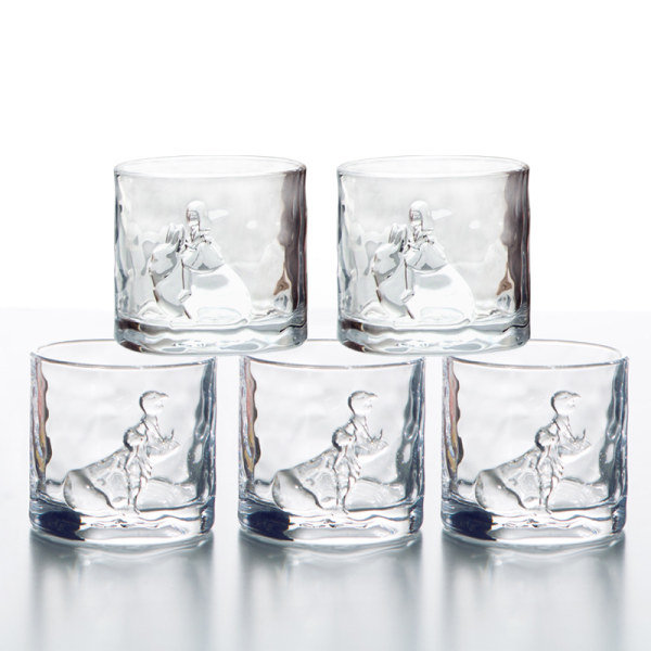 Night Fairy Embossed Wine Glass