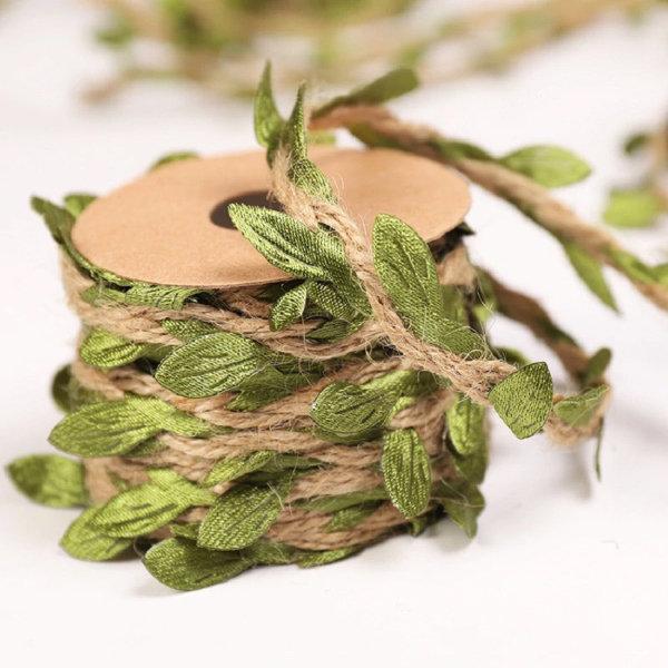 Artificial Leaves Packaging Rope