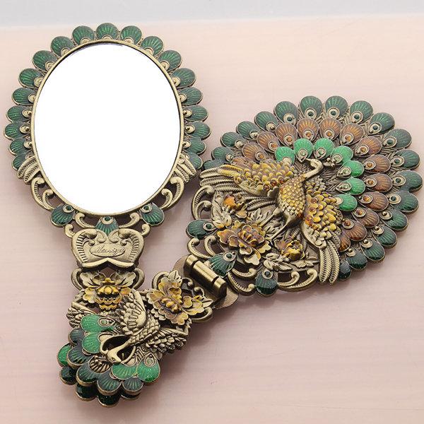 Hand-held Peacock Mirror