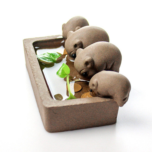 Pig Tea Pet