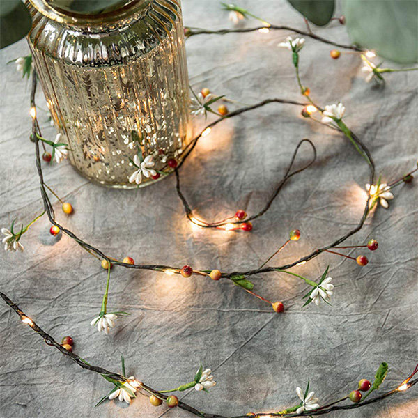 Berry And Flower String Lights