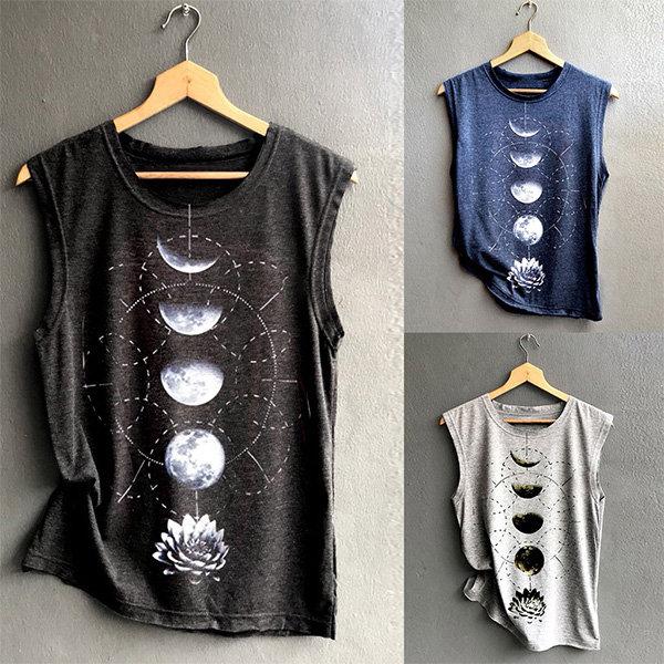 Moon Phases Sleeveless Shirt