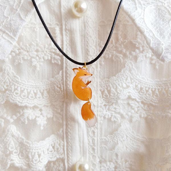 Sleeping Fox Necklace