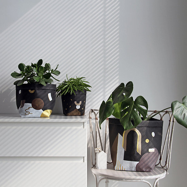 Geometric Patterned Washable Paper Bag