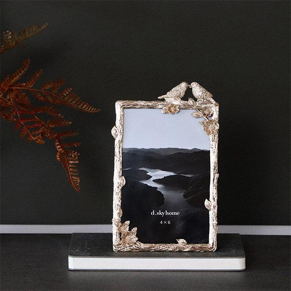 Lovebirds Metal Picture Frame
