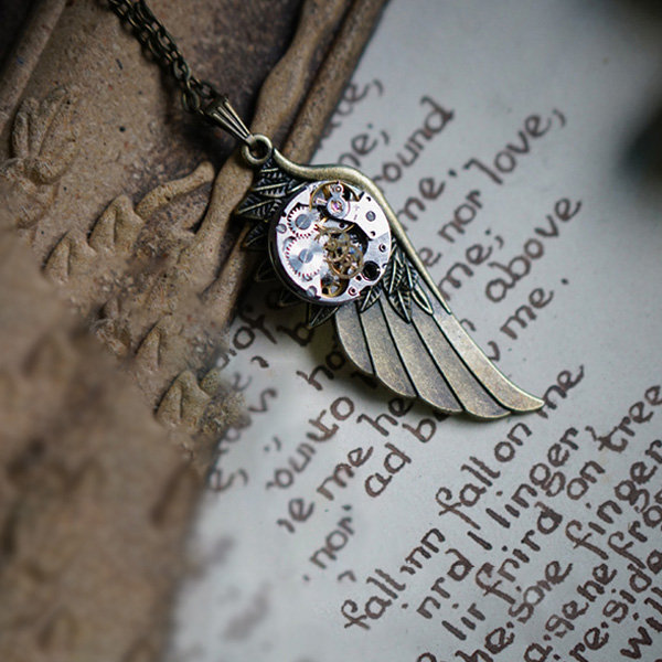Fallen Angel Steampunk Necklace