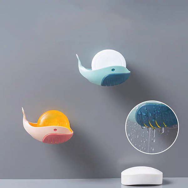 Wall-Mounted Whale Soap Dish