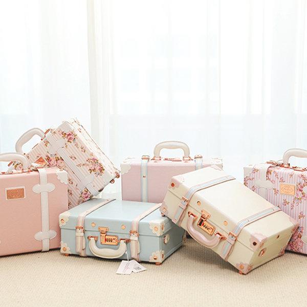 Retro-Inspired Fresh Spring Colors Suitcase