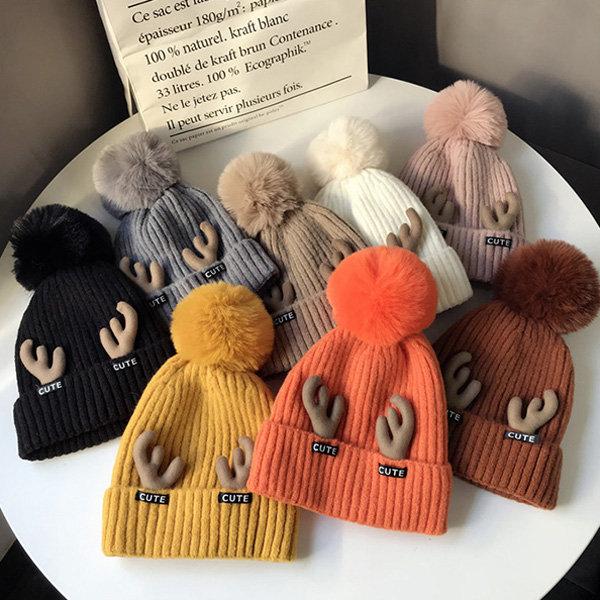 Cute Antlers Knit Hat