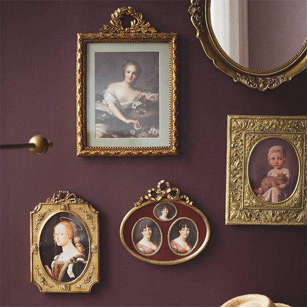 Golden Framed Vintage Inspired Art