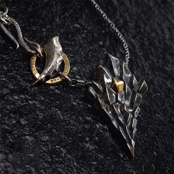 纯银龙鳞项链