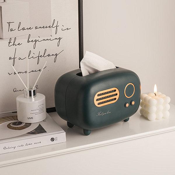 Retro Radio Inspired Tissue Box