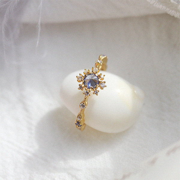Soft Blue Zircon Ring