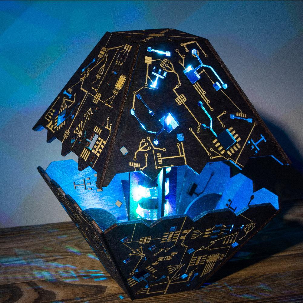 赛博朋克夜灯分体水晶形状?科幻朋克风格LED灯