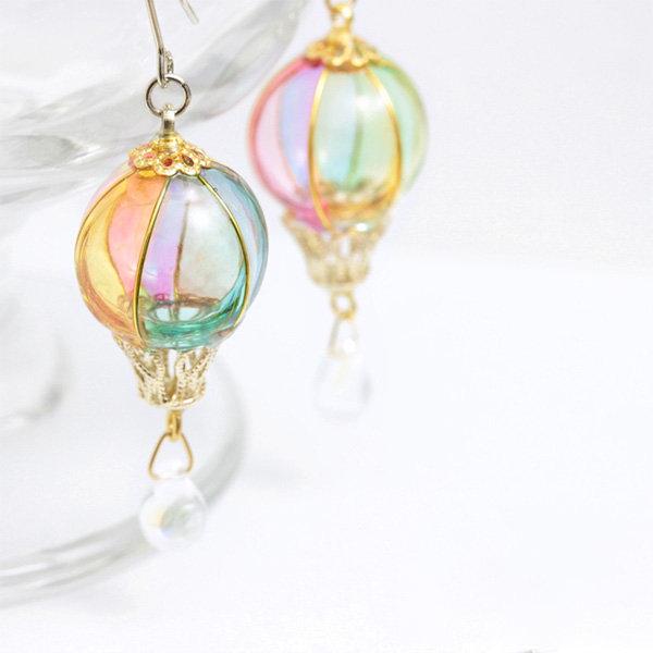 Colorful Hot Air Balloon Earrings