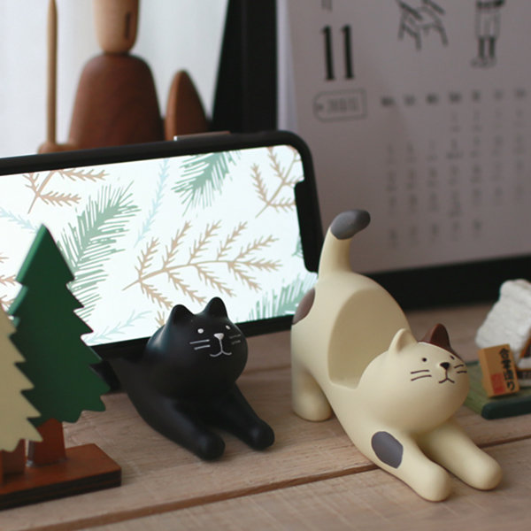 Stretching Cat Phone Holder