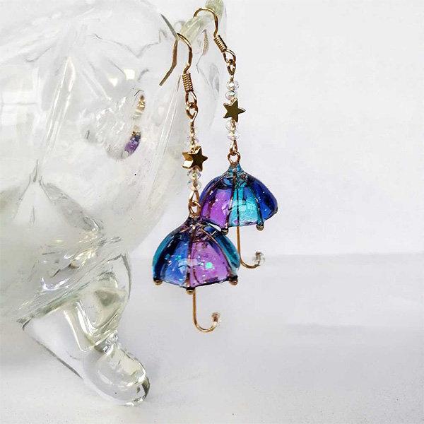 Vibrant Umbrella Earrings